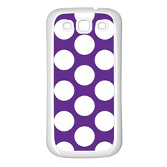 Purple Polkadot Samsung Galaxy S3 Back Case (White)