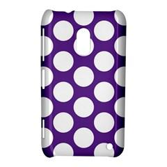 Purple Polkadot Nokia Lumia 620 Hardshell Case