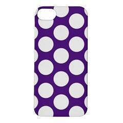 Purple Polkadot Apple Iphone 5s Hardshell Case
