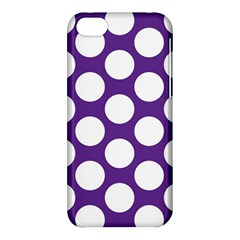Purple Polkadot Apple Iphone 5c Hardshell Case