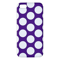 Purple Polkadot iPhone 5S Premium Hardshell Case
