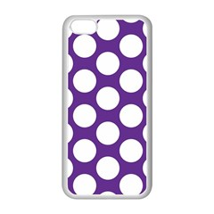Purple Polkadot Apple iPhone 5C Seamless Case (White)
