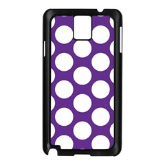 Purple Polkadot Samsung Galaxy Note 3 N9005 Case (Black)
