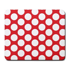 Red Polkadot Large Mouse Pad (Rectangle)