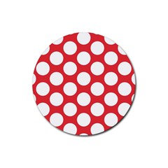 Red Polkadot Drink Coaster (round)