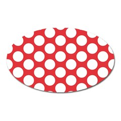 Red Polkadot Magnet (Oval)