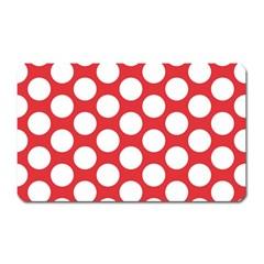 Red Polkadot Magnet (Rectangular)