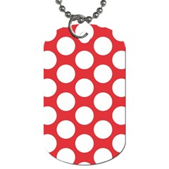 Red Polkadot Dog Tag (one Sided)