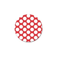 Red Polkadot Golf Ball Marker