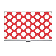 Red Polkadot Business Card Holder