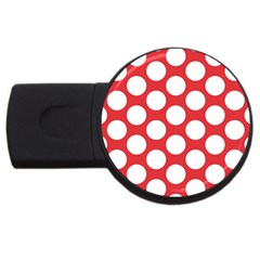 Red Polkadot 1GB USB Flash Drive (Round)