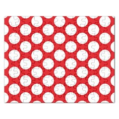 Red Polkadot Jigsaw Puzzle (Rectangle)