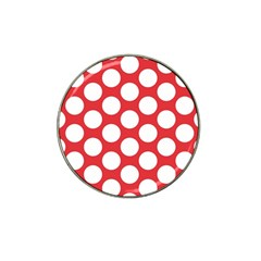Red Polkadot Golf Ball Marker 4 Pack (for Hat Clip)