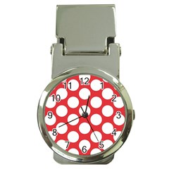 Red Polkadot Money Clip with Watch