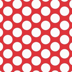 Red Polkadot Canvas 12  x 12  (Unframed)