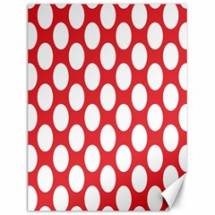 Red Polkadot Canvas 12  x 16  (Unframed)