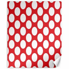Red Polkadot Canvas 16  X 20  (unframed)