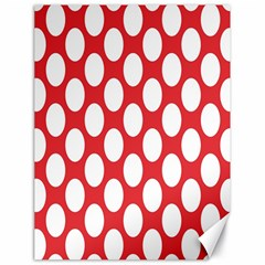Red Polkadot Canvas 18  X 24  (unframed)