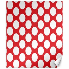 Red Polkadot Canvas 20  x 24  (Unframed)