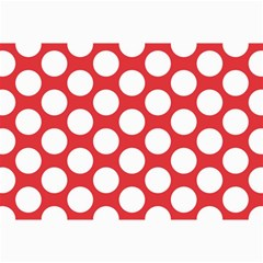 Red Polkadot Canvas 20  x 30  (Unframed)