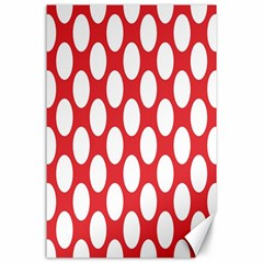 Red Polkadot Canvas 24  x 36  (Unframed)