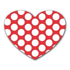 Red Polkadot Mouse Pad (Heart)
