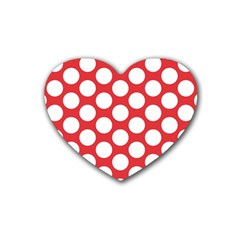 Red Polkadot Drink Coasters (Heart)