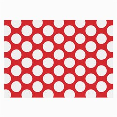 Red Polkadot Glasses Cloth (Large, Two Sided)