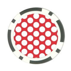 Red Polkadot Poker Chip