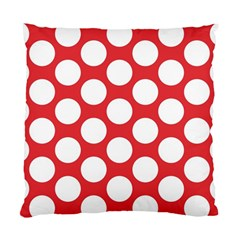 Red Polkadot Cushion Case (Two Sided)