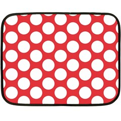 Red Polkadot Mini Fleece Blanket (two Sided)