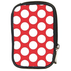 Red Polkadot Compact Camera Leather Case