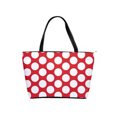 Red Polkadot Large Shoulder Bag