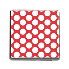 Red Polkadot Memory Card Reader With Storage (square)