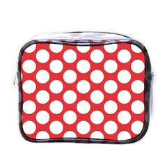Red Polkadot Mini Travel Toiletry Bag (one Side)