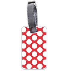 Red Polkadot Luggage Tag (one Side)