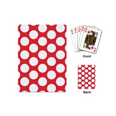 Red Polkadot Playing Cards (mini)
