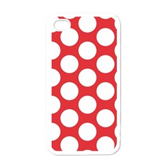 Red Polkadot Apple Iphone 4 Case (white)