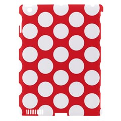 Red Polkadot Apple Ipad 3/4 Hardshell Case (compatible With Smart Cover)
