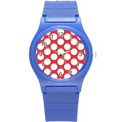 Red Polkadot Plastic Sport Watch (Small)