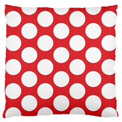 Red Polkadot Large Cushion Case (two Sided)