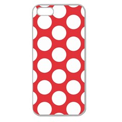 Red Polkadot Apple Seamless Iphone 5 Case (clear)