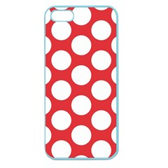 Red Polkadot Apple Seamless Iphone 5 Case (color)