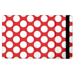 Red Polkadot Apple iPad 2 Flip Case