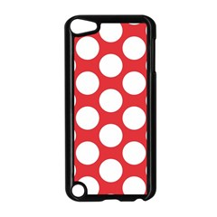 Red Polkadot Apple iPod Touch 5 Case (Black)
