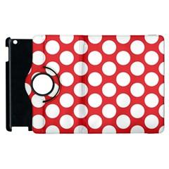 Red Polkadot Apple iPad 3/4 Flip 360 Case