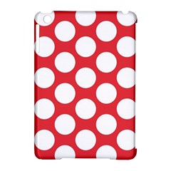 Red Polkadot Apple iPad Mini Hardshell Case (Compatible with Smart Cover)