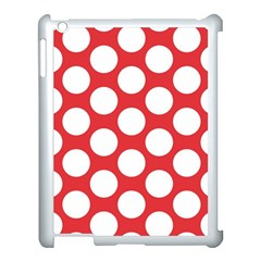 Red Polkadot Apple Ipad 3/4 Case (white)
