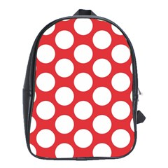 Red Polkadot School Bag (xl)