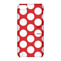 Red Polkadot Apple iPod Touch 5 Hardshell Case with Stand